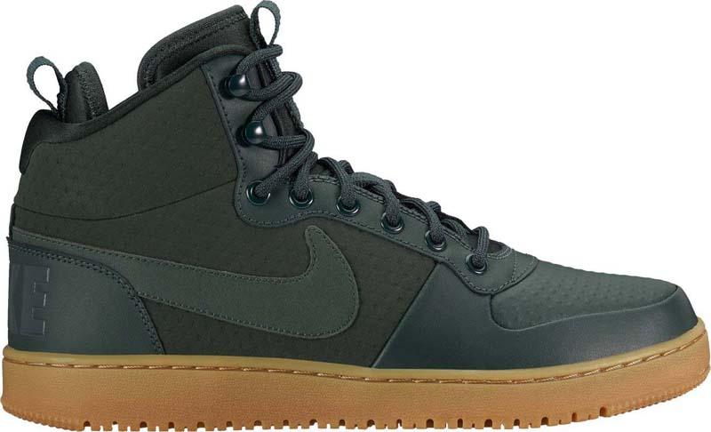 Кеды мужские Nike Court Borough Mid Winter Shoe, цвет: зеленый. AA0547-300. Размер 8 (40,5)AA0547-300Мужские кеды Nike Court Borough Mid Winter надежно защищают от непогоды. Водонепроницаемый верх обеспечивает комфорт, внутренняя часть защищает от холода, а подошва из твердой резины идеально подходит для сырой погоды. Водоотталкивающее покрытие верха обеспечивает комфорт. Внутренняя часть из неопрена обеспечивает комфорт и дополнительную защиту от холода. Скрытая система амортизации Lunarlon обеспечивает легкость и амортизацию. Широкие и прочные шнурки удобно завязывать.