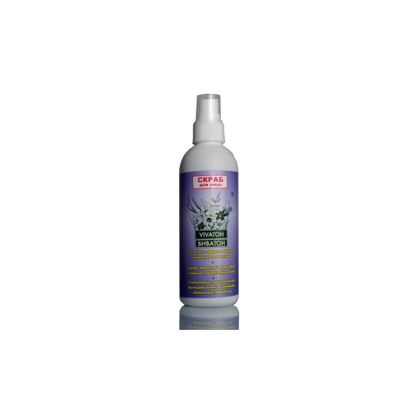 Скраб для лица Vivaton, 200 мл4620767890629В состав скраба входит экстракт Виватон, который состоит из лекарственного растительного сырья и содержит провитамины, витамины, гликозиды, макро- и микроэлементы, фитонциды, флавоноиды, органические кислоты, эфирные масла и другие биологически активные вещества растительного происхождения, необходимые для питания и ухода за кожей лица и шеи. Нежная гелевая консистенция позволяет скрабу легко распределяться по коже, не травмируя ее. Частички ореховой скорлупы различной степени дисперсности очищают кожу лица от ороговевших и отмерших клеток, стимулируют их обновление, придавая свежий вид и подготавливая к нанесению кремов и масок.