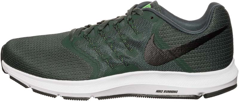 Кроссовки для бега мужские Nike Run Swift Running Shoe, цвет: зеленый. 908989-003. Размер 9,5 (43)908989-003Мужские беговые кроссовки Nike Run Swift идеально сидят на ноге благодаря дышащей сетке в передней части стопы и на пятке и сетке с плотным переплетением в средней части стопы для поддержки. Интегрированные нити Flywire надежно фиксируют среднюю часть стопы, а пеноматериал Cushlon создает амортизацию. Конструкция из сетки обеспечивает зональную вентиляцию и поддержку. Шнурки с интегрированными нитями Flywire для регулируемой поддержки. Подошва с вафельным рисунком повышает амортизацию и упругость. Сетка с плотным плетением на боковой части создает надежную поддержку, не жертвуя воздухопроницаемостью. Пеноматериал Cushlon обеспечивает мягкую, но упругую амортизацию и поддержку.