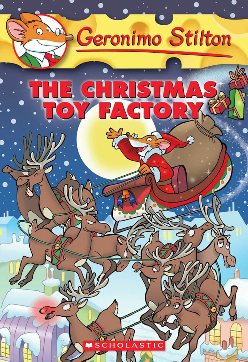 Geronimo Stilton #27: The Christmas Toy Factory santa claus deer christmas vintage dress