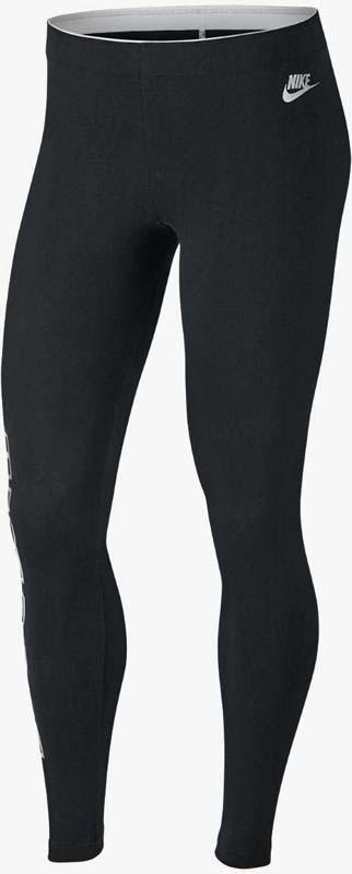 Леггинсы женские Nike Nsw Lggng Club Metallc Gx, цвет: черный. 874136-010. Размер M (46/48)874136-010Женские леггинсы Nike Sportswear выполнены из эластичной гладкой ткани джерси и украшены принтовой надписью JUST DO IT. Облегающий крой обеспечивает плотную посадку и выгодно подчеркивает фигуру. Переливающийся принт с эффектом фольги на штанине придает изделию оригинальный вид. Эластичный пояс обеспечивает комфорт.
