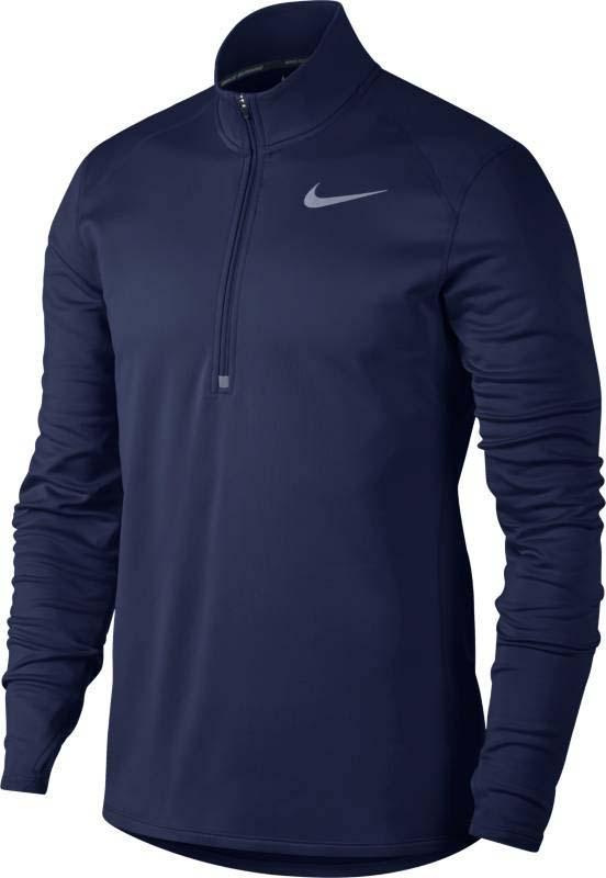 Лонгслив для бега мужской Nike Nk Brthe Rapid Top Ls, цвет: синий. 874317-429. Размер S (44/46)874317-429Мужской лонгслив для бега от Nike надежно защищает от холода. Мягкая ткань Nike Therma, молния до середины груди и эргономичные отверстия для больших пальцев обеспечивают оптимальный комфорт от разминки до заминки. Молния позволяет регулировать вентиляцию. Отверстия для больших пальцев выполнены с учетом формы кисти для удобной посадки. Плоские швы не натирают кожу. Специальная конструкция швов повторяет контуры тела, обеспечивая полную свободу движений. Технология Dri-FIT отводит влагу от кожи, обеспечивая комфорт.