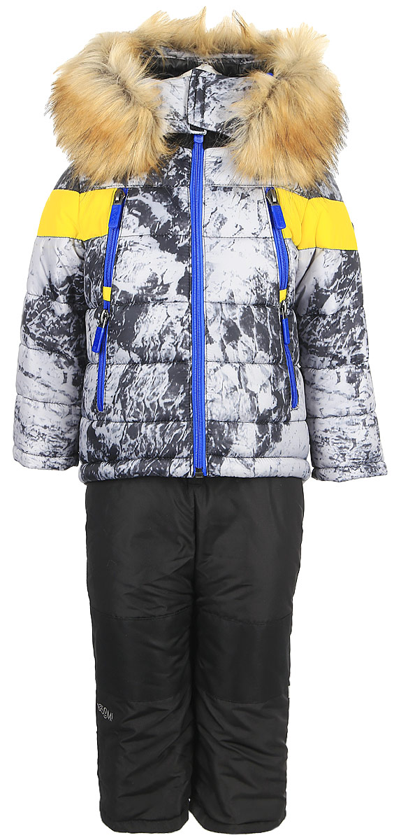 Комплект для мальчика Boom!: куртка, брюки, цвет: белый. 70488_BOB_вар.1. Размер 98, 3-4 года комплект верхней одежды для мальчика boom куртка брюки цвет синий черный 70335 bob вар 2 размер 98 3 4 года