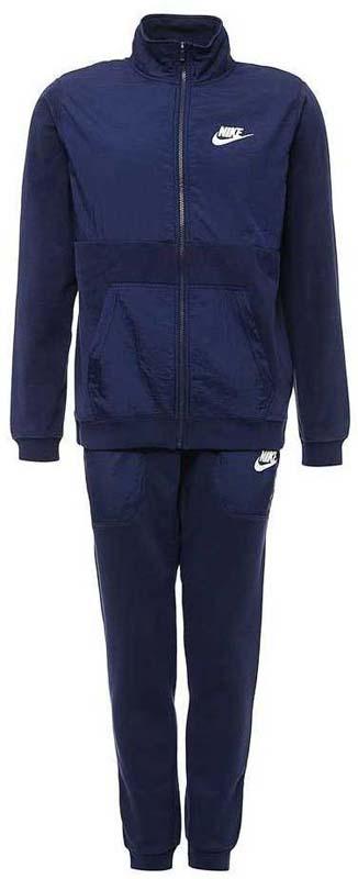 цена Спортивный костюм мужской Nike Nsw Trk Suit Winter, цвет: синий. 863771-429. Размер M (46/48) онлайн в 2017 году