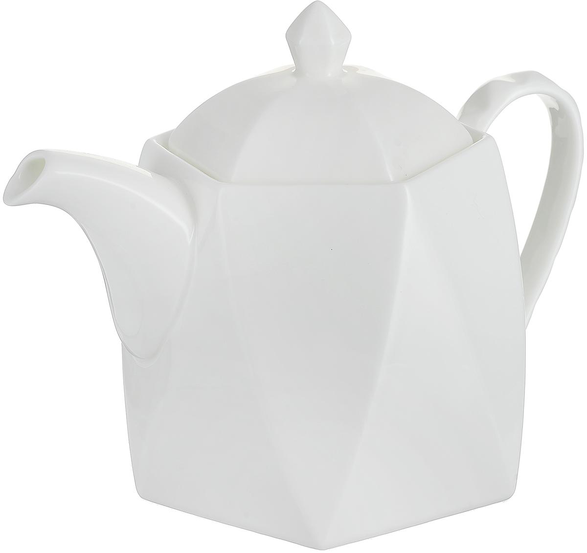 """Чайник заварочный Royal Aurel """"Диамант"""" выполнен из высококачественной керамики. Чайник лаконичной формы с коротким носиком и тонкой ручкой. Крышка дополнена удобным держателем. У изделия гладкая поверхность. Фарфор """"Royal Aurel"""" отличается исключительной белизной, что объясняется уникальными компонентами и традиционной технологией, по которой он был изготовлен. Белая глина из провинции Фуцзянь и традиционные рецепты китайских мастеров создают неповторимую композицию."""