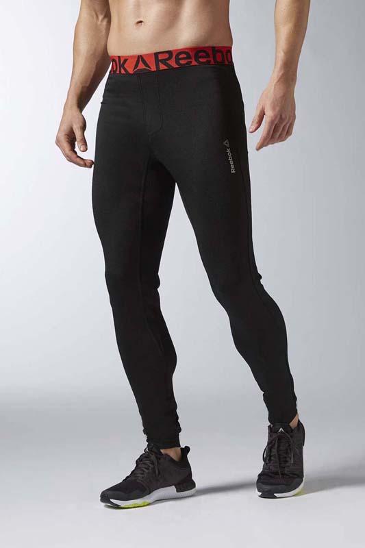 Тайтсы для фитнеса мужские Reebok Fm Solid Bl Tight, цвет: черный. AX9063. Размер XL (56/58) тайтсы reebok тайтсы classics app women reebok