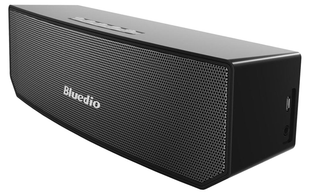 Bluedio BS-3, Black беспроводная колонкаBS-3 blackБеспроводная колонка Bluedio BS-3 позволяет слушать вашу любимую музыку со смартфона с помощью подключения через Bluetooth, а также отвечать на звонки. Вы также можете подключить любой другой источник аудио через разъем 3,5 мм. 3D режим позволяет сделать басы намного больше. К каждому динамику добавлены 2 вспомогательных магнита, что способствует более точной передаче звуков. DSP-процессор имеет частоту дискретизации 24 бит/48 кГц, что позволяет качественно воспроизводить аудиотреки.