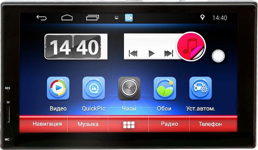 Мультимедиа ресивер SWAT AHR-4180/2 din, цвет: черный, синий, 4х50 Вт, MP3, USB, SD, BT, 7SWATAHR-4180Мультимедийный автомобильный ресивер