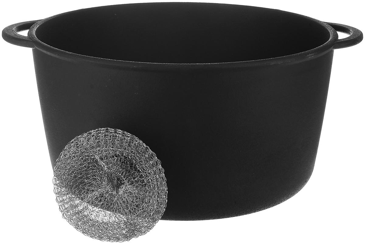 Кастрюля Майстерня, 5 лТ403Кастрюля Майстерня изготовлена из натурального экологически безопасного чугуна. Чугун является одним из лучших материалов для производства посуды. Его можно нагревать до высоких температур. Он очень практичный, не выделяет токсичных веществ, обладает высокой теплоемкостью и способен служить долгие годы. Изделие оснащено ручками-подхватами. Такая кастрюля замечательно подойдет для супов и тушеных блюд, при этом результат всегда просто потрясающий. Вы всегда будете готовить самую вкусную и полезную для здоровья пищу. Уважаемые клиенты! Для сохранения свойств посуды из чугуна и предотвращения появления ржавчины чугунную посуду мойте только вручную, горячей или теплой водой, мягкой губкой или щёткой (не металлической) и обязательно вытирайте насухо. Для хранения смазывайте внутреннюю поверхность посуды растительным маслом, а перед следующим применением хорошо накалите посуду.