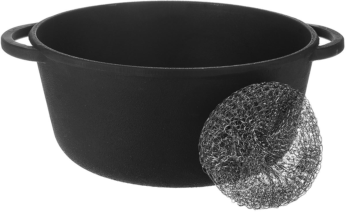 Кастрюля Майстерня, 2 лТ401Кастрюля Майстерня изготовлена из натурального экологически безопасного чугуна. Чугун является одним из лучших материалов для производства посуды. Его можно нагревать до высоких температур. Он очень практичный, не выделяет токсичных веществ, обладает высокой теплоемкостью и способен служить долгие годы.Изделие оснащено ручками-подхватами.Такая кастрюля замечательно подойдет для супов и тушеных блюд, при этом результат всегда просто потрясающий.Вы всегда будете готовить самую вкусную и полезную для здоровья пищу. Уважаемые клиенты! Для сохранения свойств посуды из чугуна и предотвращения появления ржавчины чугунную посуду мойте только вручную, горячей или теплой водой, мягкой губкой или щёткой (не металлической) и обязательно вытирайте насухо. Для хранения смазывайте внутреннюю поверхность посуды растительным маслом, а перед следующим применением хорошо накалите посуду.