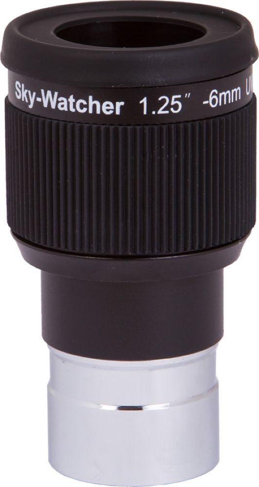 Sky-Watcher UWA окуляр 58° 6 мм 1,2567875Sky-Watcher UWA 58° 6 мм – это широкоугольный окуляр для изучения протяженных астрономических объектов.Данная модель прекрасно подходит для наблюдения туманностей, галактик, шаровых и рассеянных звездныхскоплений.Высококачественная оптика гарантирует передачу четкой, контрастной и резкой картинки.Покрытие оптики: многослойное просветляющее Поле зрения: 58° Посадочный диаметр: 1,25 дюймов