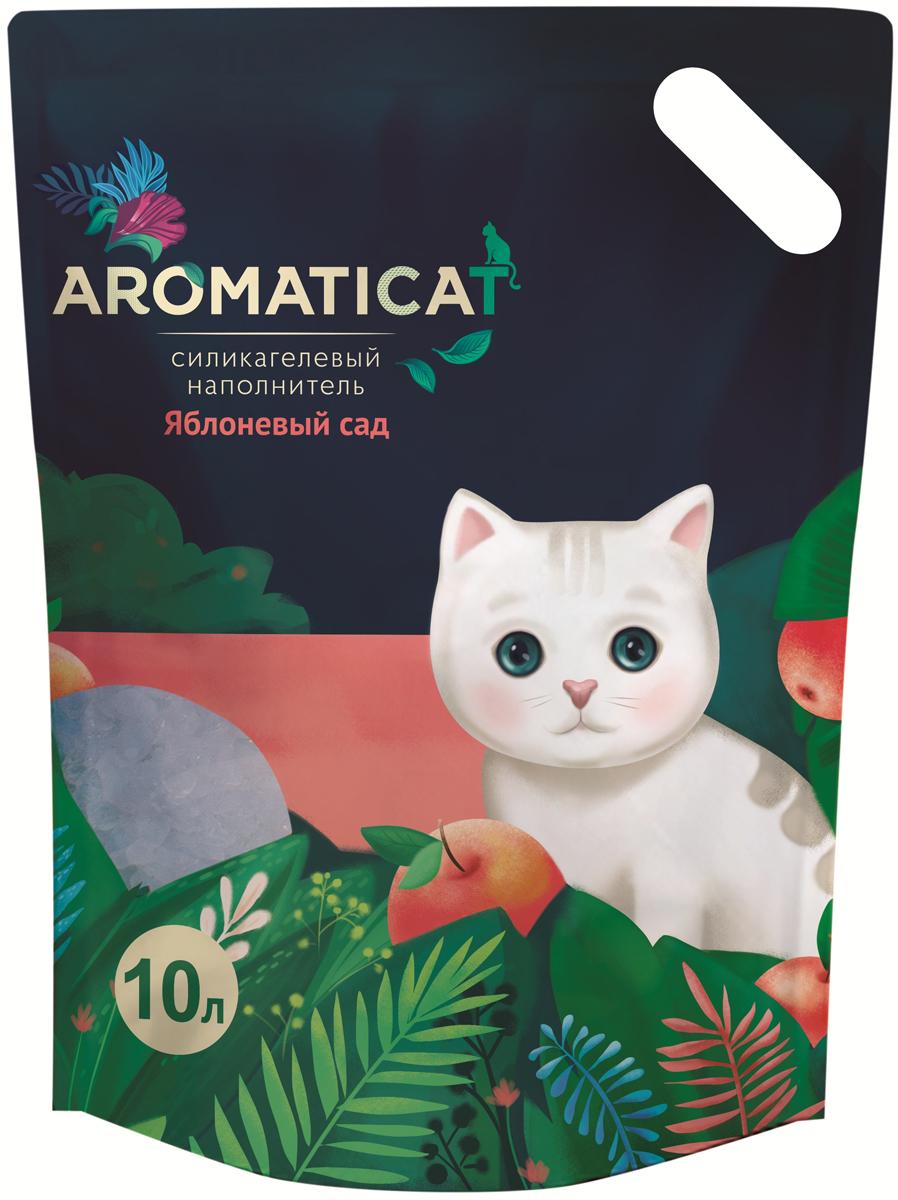 Силикагелевый наполнитель Aromaticat  Яблоневый сад , гигиенический, 10 л - Наполнители и туалетные принадлежности
