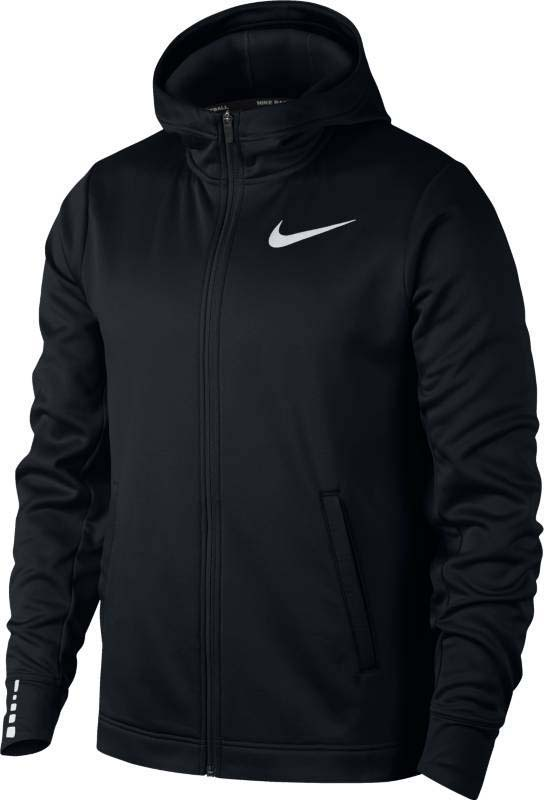 Худи мужское Nike Nk Thrma Elite Hoodie Fz Sol, цвет: черный. 919980-010. Размер L (50/52) детские бутсы nike бутсы nike jr phantom 3 elite df fg ah7292 081