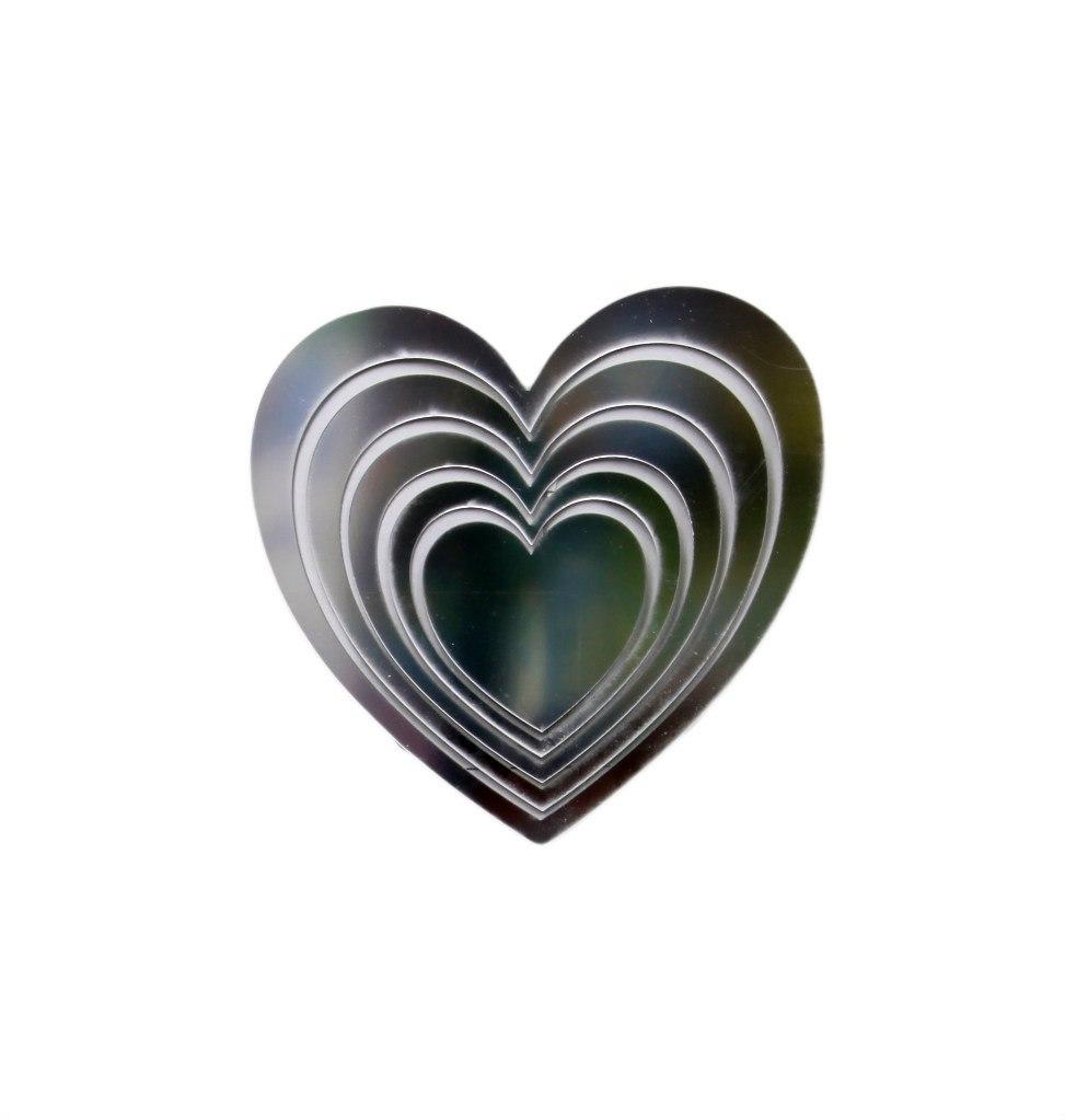 Наклейка-зеркало декоративная Arte Nuevo Сердца, 31 х 33,5 см. DA-ZST-1003 наклейка