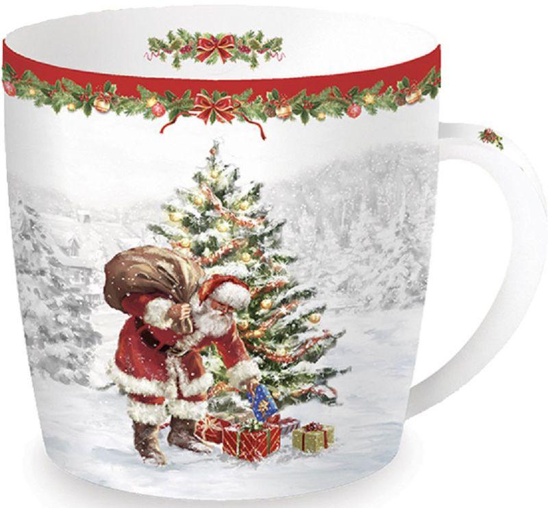 Кружка Easy Life Рождественская елка, 350 мл217CHTRКружка Easy Life выполнена из высококачественного фарфора и оформлена принтом. Яркая необычная кружка имеет широкую горловину и удобную ручку для повседневного использования. Не оставит равнодушным ни одного из ваших гостей и станет прекрасным выбором для подарка. Изделие имеет подарочную упаковку.