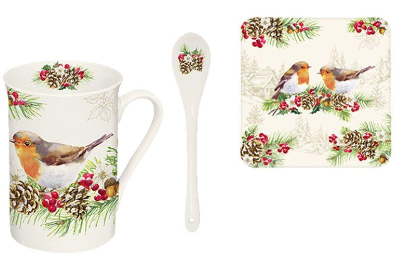 Набор чайный Easy Life Снегирь, 3 предмета1459WIROНабор чайный Easy Life Снегирь состоит из кружки, ложки, изготовленных извысококачественного фарфора, и подставки из спрессованного картона. Набор оформлен стильным рисунком. Такойнабор подходит дляподачи чая.Изящный дизайн придется по вкусу и ценителямклассики, и тем, кто предпочитает утонченность иизысканность. Он настроит на позитивный лад иподарит хорошее настроение с самого утра.Чайный набор Easy Life - идеальный и необходимый подарокдля вашего дома и для ваших друзей в праздники.