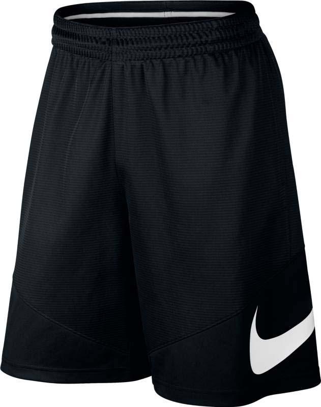 Шорты для баскетбола мужские Nike Nk Short Hbr, цвет: черный. 718830-012. Размер L (50/52)718830-012Мужские баскетбольные шорты Nike HBR выполнены из текстурированной влагоотводящей ткани и обеспечивают легкость и надежную посадку, которая не стесняет движений. Ткань Dri-FIT гарантирует вентиляцию и комфорт. Функциональный крой с длиной по колено не сковывает движений. Предусмотрены карманы на боковых швах. Крупный принт с логотипом Swoosh расположен на левой штанине снизу.