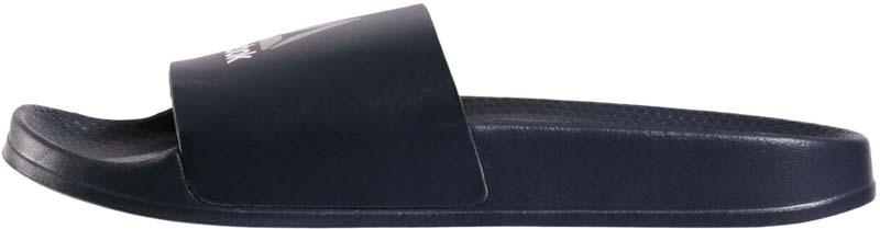 Шлепанцы мужские Reebok Original Sli Collegiate, цвет: черный. BS7531. Размер 14 (48,5)BS7531Эти стильные шлепанцы гарантируют вам комфорт и амортизацию на любой поверхности. Цельная конструкция позволяет легко снимать и надевать их, а регулируемая застежка обеспечивает оптимальную посадку по ноге. Отличное сцепление даже на скользких поверхностях. Цельная формованная конструкция из пеноматериала гарантирует легкость, отличную амортизацию и быстрое высыхание. Стильный контрастный дизайн верха. Рифленая подошва обеспечивает отличное сцепление даже на скользких поверхностях. Эргономичная стелька из ЭВА для дополнительного комфорта.