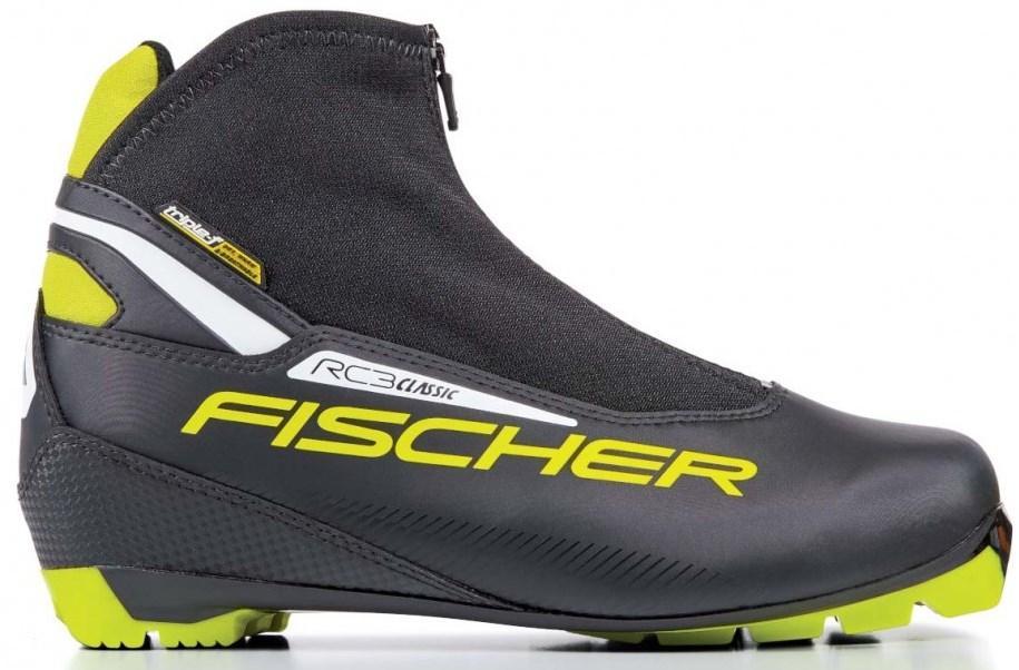 Ботинки лыжные Fischer RC3 Classic, цвет: черный. Размер 45S17217Лыжные ботинки Fischer RC3 Classic подходят для тренировок и соревнований. Новая спортивная подошва обеспечивает облегченное отталкивание и устойчивость. Дышащая мембрана Triple-F и удобная шнуровка Speed Lock обеспечивают комфорт при катании.Внутренняя пластиковая вставка анатомической формы в пяточной части. Система быстрой застежки для профессиональной экипировки. Надежное держание и простота использования.Термоформируемый материал внутреннего ботинка обладает прекрасными изоляционными свойствами и легко адаптируется по ноге.Дополнительная защита шнуровки, предотвращает проникновение влаги и холода.Влагонепроницаемая мембрана обладающая дышащими свойствами позволяет ногам оставаться сухими в любую погоду.Очень легкий, водоотталкивающий изоляционный материал защищает от холода мысок и переднюю часть стопы.