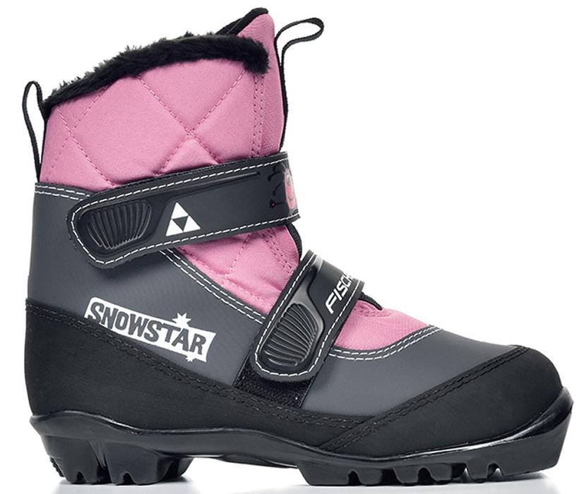Лыжные ботинки детские Fischer Snowstar, цвет: розовый. Размер 26S41117Модель для самых маленьких лыжников. Комфортная мягкая подошва, водоотталкивающий утеплитель Comfort Guard дополнительно защищает от холода и влаги, удобная застежка – липучка облегчает надевание. В ботинках удобно не только кататься, но и гулять, играть.ПРЕИМУЩЕСТВА ДЛЯ ПОТРЕБИТЕЛЕЙ• Удобно надевать и снимать• Очень теплые• Подходят для катания и игр на снегу