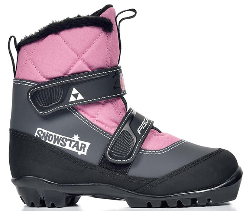 Лыжные ботинки детские Fischer Snowstar, цвет: розовый. Размер 27S41117Модель для самых маленьких лыжников. Комфортная мягкая подошва, водоотталкивающий утеплитель Comfort Guard дополнительно защищает от холода и влаги, удобная застежка – липучка облегчает надевание. В ботинках удобно не только кататься, но и гулять, играть.ПРЕИМУЩЕСТВА ДЛЯ ПОТРЕБИТЕЛЕЙ• Удобно надевать и снимать• Очень теплые• Подходят для катания и игр на снегу