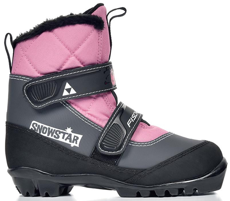 Лыжные ботинки детские Fischer Snowstar, цвет: розовый. Размер 29S41117Модель для самых маленьких лыжников. Комфортная мягкая подошва, водоотталкивающий утеплитель Comfort Guard дополнительно защищает от холода и влаги, удобная застежка – липучка облегчает надевание. В ботинках удобно не только кататься, но и гулять, играть.ПРЕИМУЩЕСТВА ДЛЯ ПОТРЕБИТЕЛЕЙ• Удобно надевать и снимать• Очень теплые• Подходят для катания и игр на снегуКак выбрать лыжи ребёнку. Статья OZON Гид