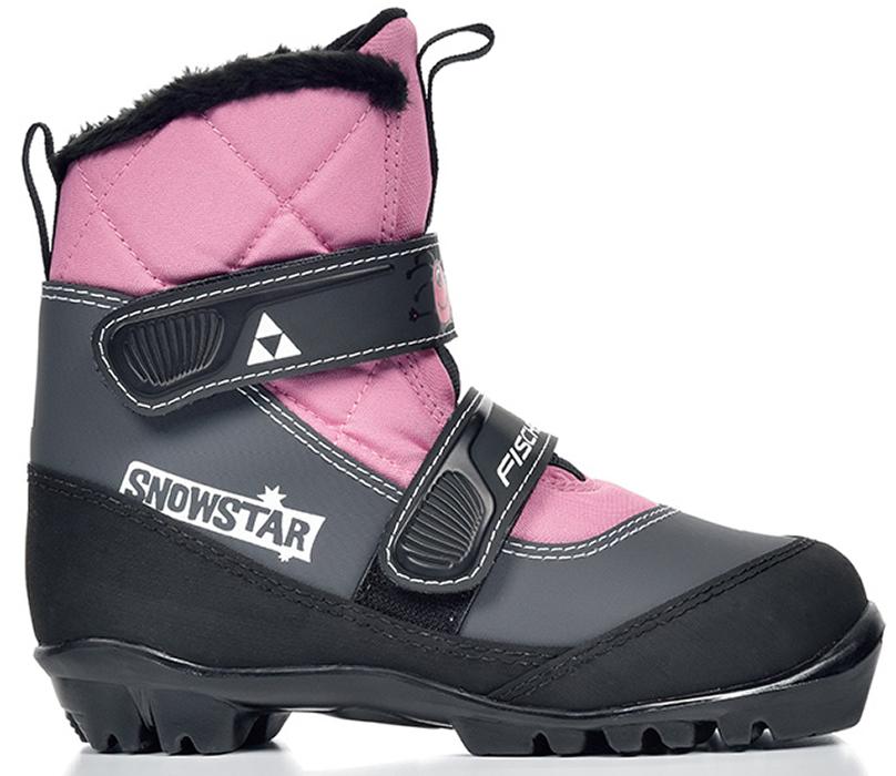 Ботинки лыжные детские Fischer Snowstar, цвет: розовый, серый, черный. Размер 31S41117Лыжные детские ботинки Fischer Snowstar предназначены для самых маленьких лыжников. Ботинки выполнены из искусственной кожи и текстиля. Мягкая подошва обеспечит комфорт. Водоотталкивающий утеплитель Comfort Guard дополнительно защищает от холода и влаги, удобная застежка-липучка облегчает надевание. В ботинках удобно не только кататься, но и гулять, играть. Как выбрать лыжи ребёнку. Статья OZON Гид