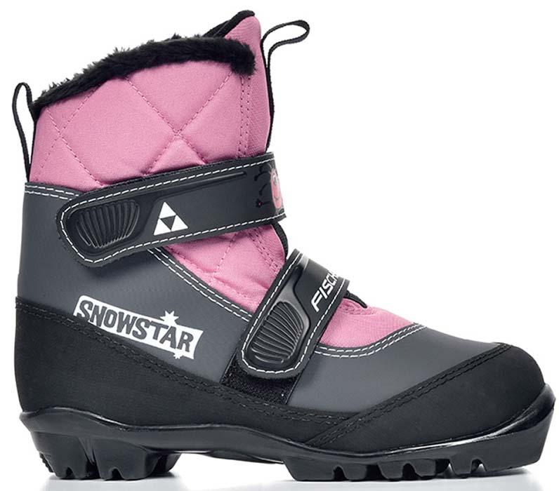 Лыжные ботинки детские Fischer Snowstar, цвет: розовый. Размер 32S41117Модель для самых маленьких лыжников. Комфортная мягкая подошва, водоотталкивающий утеплитель Comfort Guard дополнительно защищает от холода и влаги, удобная застежка – липучка облегчает надевание. В ботинках удобно не только кататься, но и гулять, играть.ПРЕИМУЩЕСТВА ДЛЯ ПОТРЕБИТЕЛЕЙ• Удобно надевать и снимать• Очень теплые• Подходят для катания и игр на снегу