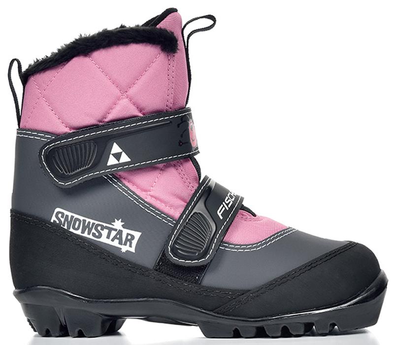 Лыжные ботинки детские Fischer Snowstar, цвет: розовый. Размер 33S41117Модель для самых маленьких лыжников. Комфортная мягкая подошва, водоотталкивающий утеплитель Comfort Guard дополнительно защищает от холода и влаги, удобная застежка – липучка облегчает надевание. В ботинках удобно не только кататься, но и гулять, играть.ПРЕИМУЩЕСТВА ДЛЯ ПОТРЕБИТЕЛЕЙ• Удобно надевать и снимать• Очень теплые• Подходят для катания и игр на снегу