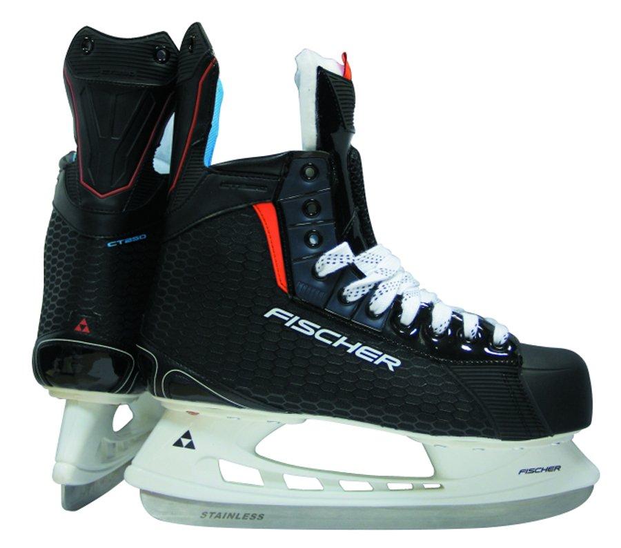 Коньки хоккейные для мальчика Fischer CT250 JR, цвет: черный. Размер 38H04117Коньки для мальчиков Fischer CT250 JR предназначены для игры в хоккей с шайбой или в хоккей с мячом. Верх модели выполнен из нейлона и ПВХ. Лезвие изготовлено из нержавеющей стали HRC50.Коньки имеют комфортную колодку EE. Лайнер выполнен из микрофибры, низкопрофильная подошва и морозостойкий стакан из нейлона. Анатомическая стелька с перфорацией и усиленный язык EVA обеспечивают комфорт при движении. Шнуровка надежно зафиксирует модель на ноге. Стильный дизайн и комфорт коньков позволят получить удовольствие от катания.