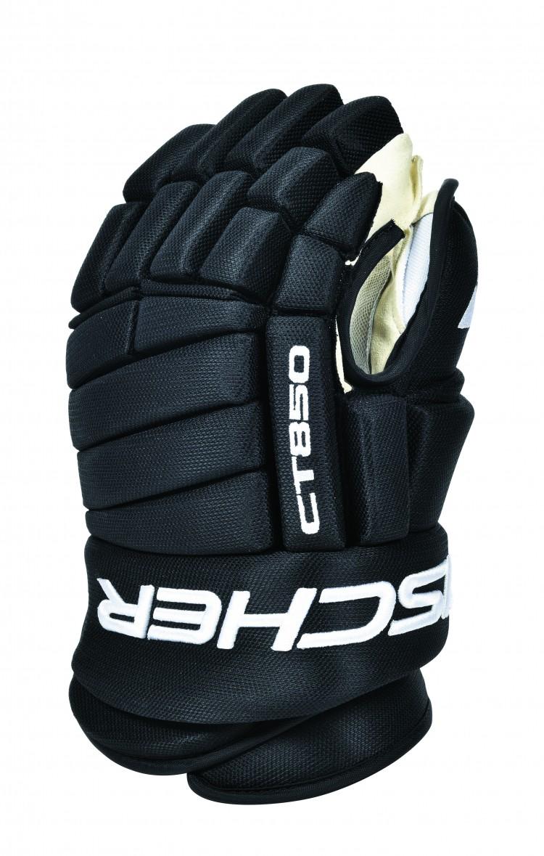Перчатки хоккейные Fischer CT850 SR, цвет: черный. Размер 12H03517,BLKОсобенности:- Профессиональное качество- Анатомическая конструкция с 4 роллами- Фиксация большого пальца Hyperlock- Ладошка из синтетической кожи Clarino NASH- Вентилируемая подкладка BNT