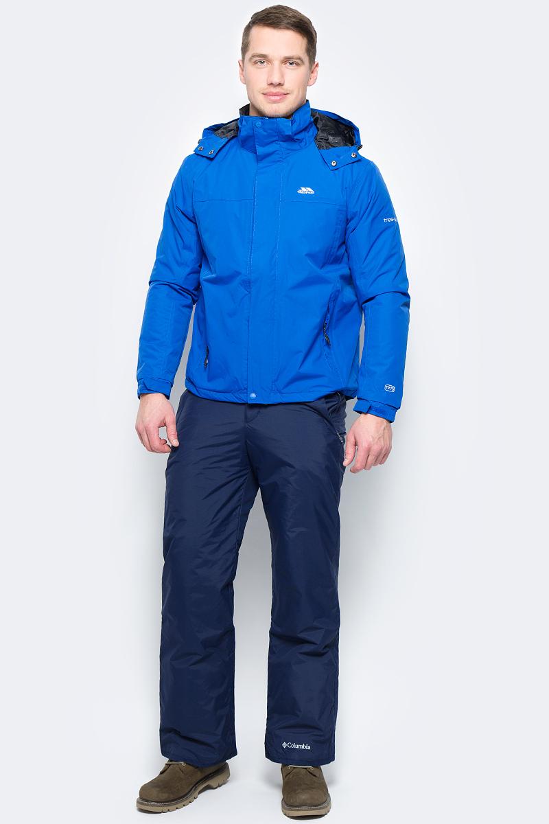 Куртка мужская Trespass Donelly, цвет: синий. MAJKRAL20005. Размер M (50)MAJKRAL20005Мужская куртка Trespass Donelly выполнена из полиэстера с утеплителем из сентепона. Модель с длинными рукавами и несъемным капюшоном застегивается на застежку-молнию с ветрозащитным клапаном на кнопках. Изделие дополнено двумя втачными карманами на застежках-молниях и одним внутренним карманом на молнии. Рукава дополнены эластичными резинками на манжетах, а также хлястиками с липучками, которые позволяют регулировать обхват.