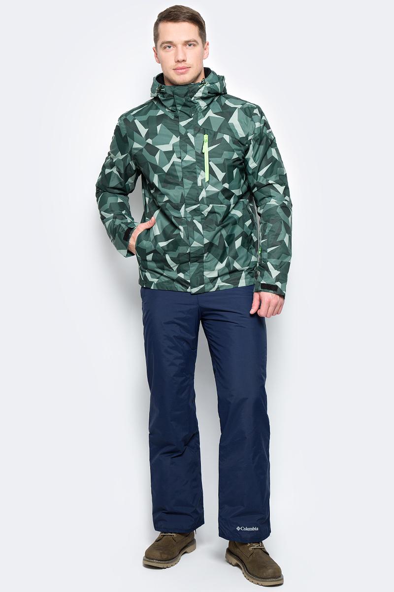 Куртка мужская Icepeak, цвет: зеленый. 856226571IV_550. Размер 50856226571IV_550Куртка мужская Icepeak выполнена из полиэстера. Модель с длинными рукавами и капюшоном застегивается на застежку-молнию.