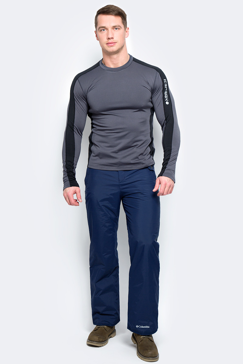 Брюки утепленные мужские Columbia Hannegan Pass M Ski Pants, цвет: темно-синий. 1780711-464. Размер S (44/46)1780711-464Мужские брюки Pass M Ski Pants для зимнего спорта от Columbia выполнены из прочной ткани с водонепроницаемой, дышащей и ветрозащитной мембраной OMNI-TECH. Синтетический утеплитель обеспечивает оптимальную защиту от холода. Модель имеет ширинку на застежке-молнии, липучку и кнопки в поясе. На талии предусмотрены широкие шлевки для ремня. По бокам предусмотрены два кармана. Брюки имеют снегозащитные гетры с эластичными манжетами. Для защиты от истирания на штанинах предусмотрен прочный тканевый кант.