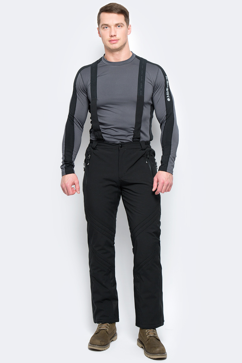 Брюки утепленные мужские Rukka, цвет: черный. 878664241RV_990. Размер XL (54)878664241RV_990Утепленные брюки от Rukka выполнены из водонепроницаемого материала. Модель в поясе застегивается на кнопку и имеет ширинку на молнии. Брюки имеют съемные регулируемые подтяжки, молнии внизу брючины для облегчения надевания лыжных ботинок, и нескользящую силиконовую тесьму по нижнему шву брюк.