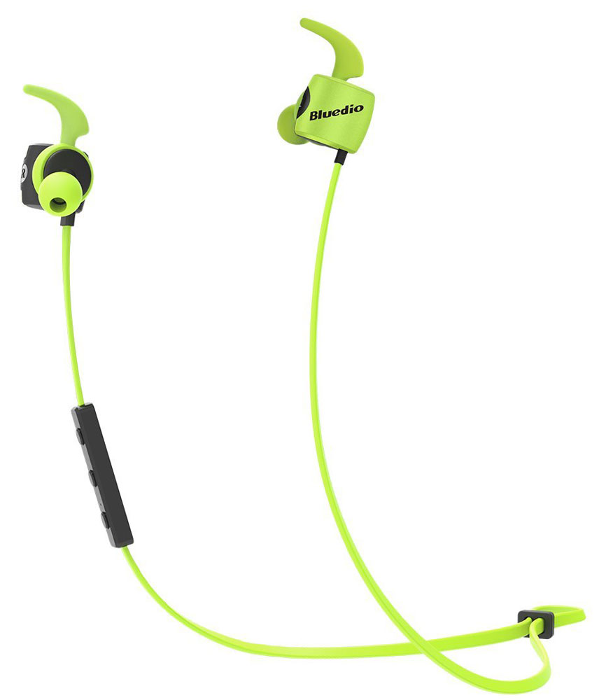 Bluedio TE, Green беспроводные наушникиTE greenБеспроводные наушники Bluedio TE с функцией гарнитуры позволят вам не только наслаждаться качественным прослушиванием любимой музыки, но также отвечать на звонки и управлять воспроизведением аудиотреков. Данная модель отлично подходит для занятий спортом, так как имеет дополнительные элементы крепления для ушей.