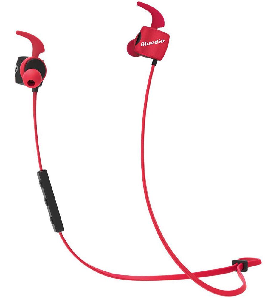 Bluedio TE, Red беспроводные наушникиTE redБеспроводные наушники Bluedio TE с функцией гарнитуры позволят вам не только наслаждаться качественным прослушиванием любимой музыки, но также отвечать на звонки и управлять воспроизведением аудиотреков. Данная модель отлично подходит для занятий спортом, так как имеет дополнительные элементы крепления для ушей.