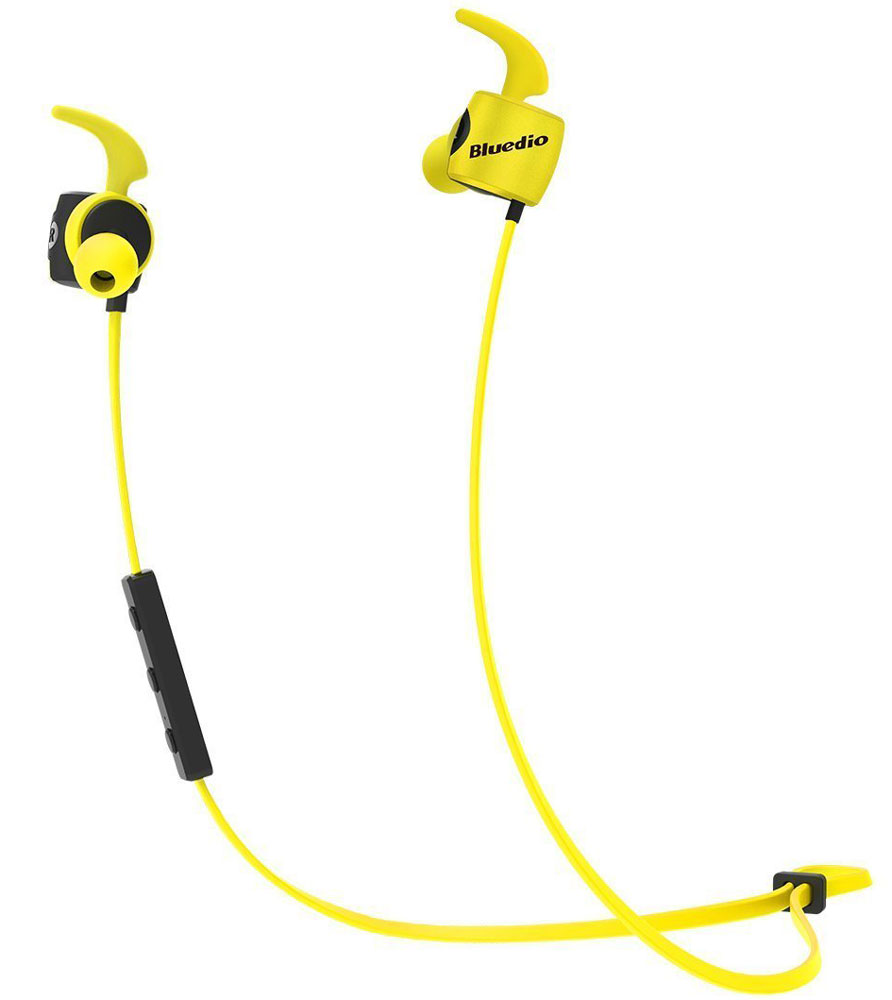 Bluedio TE, Yellow беспроводные наушникиTE yellowБеспроводные наушники Bluedio TE с функцией гарнитуры позволят вам не только наслаждаться качественным прослушиванием любимой музыки, но также отвечать на звонки и управлять воспроизведением аудиотреков. Данная модель отлично подходит для занятий спортом, так как имеет дополнительные элементы крепления для ушей.
