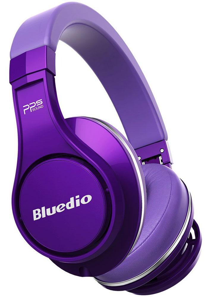 Bluedio UFO U, Purple беспроводные наушникиUFO U purpleBluedio UFO U - это беспроводные наушники накладного типа с микрофоном. В модели используется эксклюзивная технология PPS8, в основе которой лежит использование сразу 8 излучателей. Наушники можно подключать к мобильным устройствам благодаря технологии Bluetooth 4.1. Гарнитура работает от встроенного аккумулятора, которого хватит на целые сутки прослушивания музыки. Удобное широкое оголовье можно регулировать, а складная конструкция позволяет хранить или перевозить наушники в чехле. При желании их можно подключить к источнику аудио с помощью комплектного кабеля с разъемом 3.5 мм. Управление функциями осуществляется с помощью кнопок, расположенных на правой чашке наушников.3D-технология звука PPS8Диаметр динамиков: 2 х 50 мм, 6 х 20 мм (в одном наушнике)Время зарядки аккумулятора: 3 часа