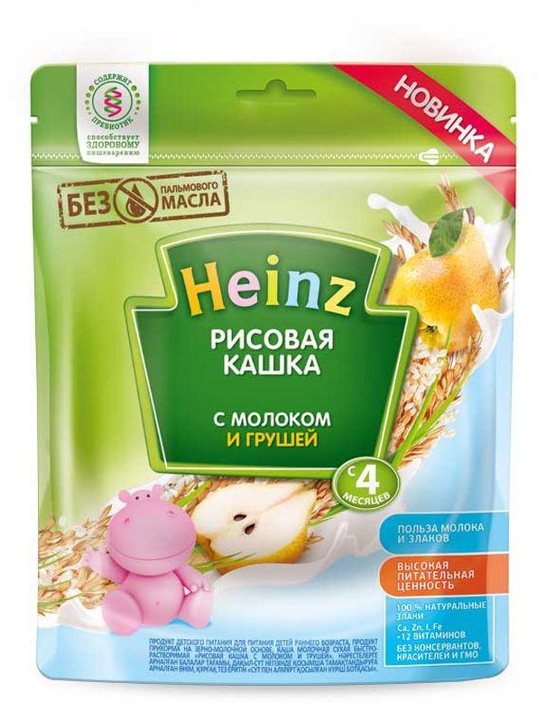 Хайнц Каша молочная рисовая с грушей, 4 мес, 250 г каша готовая молочная фрутоняня рисовая с 6 мес 200 мл