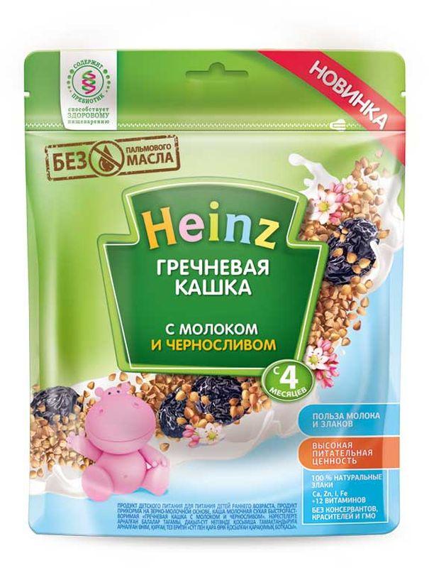 Хайнц Каша молочная гречневая с черносливом, 4 мес, 250 г умница каша молочная гречневая с 4 мес 200г