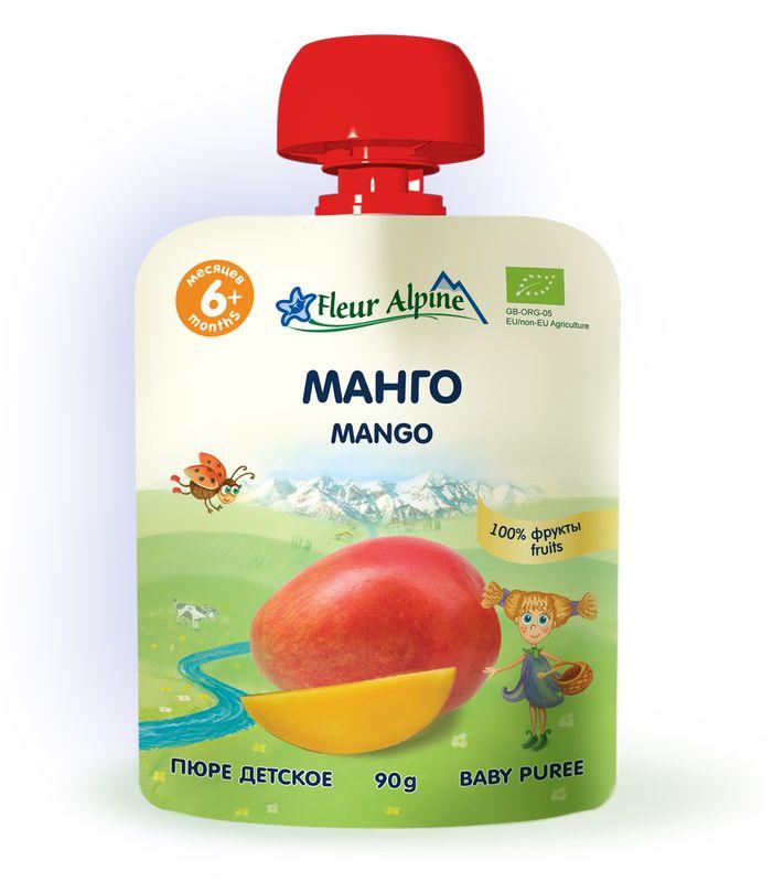 Флёр Альпин Органик пюре манго, с 6 месяцев, 90 г