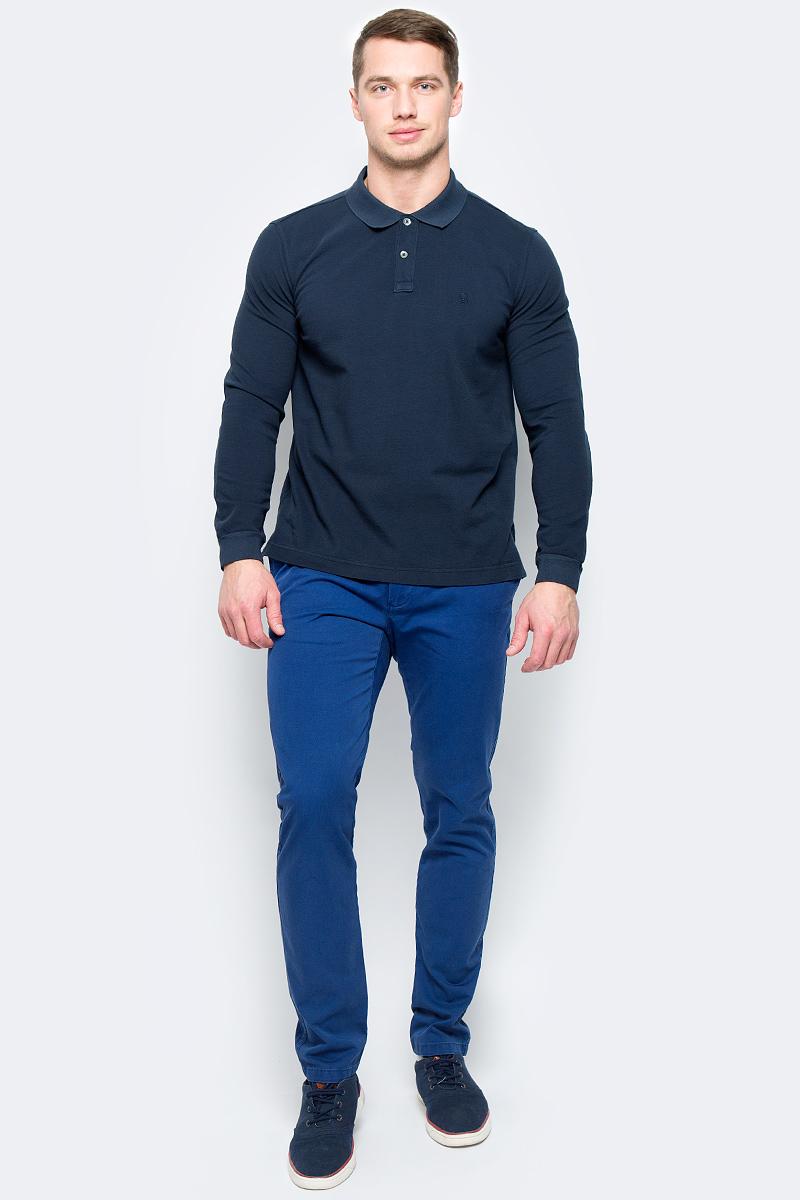 Поло муж United Colors of Benetton, цвет: синий. 3089J3078_06U. Размер S (46/48) рубашка женская u s polo assn цвет синий голубой g082sz004helgaflox vr028 размер 40 46