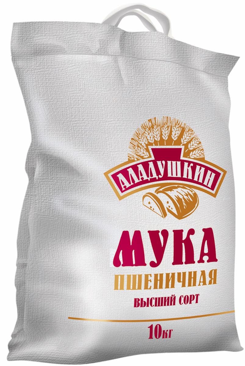 Аладушкин Мука пшеничная высший сорт, 10 кг мука цельнозерновая пшеничная с пудовъ 1 кг