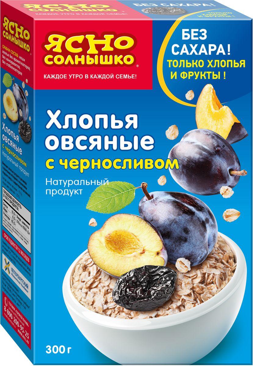 Ясно Солнышко Хлопья овсяные c черносливом, 300 г6679Состав - только хлопья и фрукты