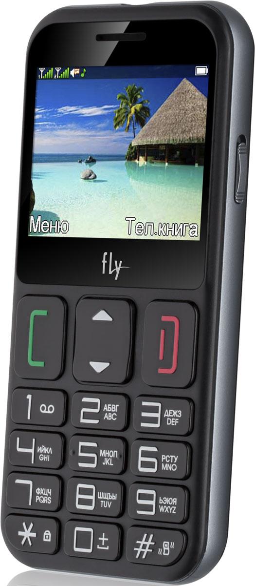 Fly Ezzy 9, Black10215Fly Ezzy 9 - мобильный телефон для пожилых людей. Именно такой, как и должен быть: с удобными большими кнопками и крупными цифрами, отдельной кнопкой SOS.В настройках телефона для клавиши SOS можно задать номера телефонов (или несколько), на которых будет совершен вызов при её нажатии. Звонок будет осуществляться в заданной последовательности по списку заданных номеров. В случае дозвона до первого абонента, на второй номер звонок осуществляться не будут. Данную функцию можно отключить.На верхнем торце есть светодиодный фонарик. Для его удобного включения на правый бок телефона вынесена отдельная клавиша, которая передвигается в два положения: включить и выключить.Телефон сертифицирован EAC и имеет русифицированную клавиатуру, меню и Руководство пользователя.