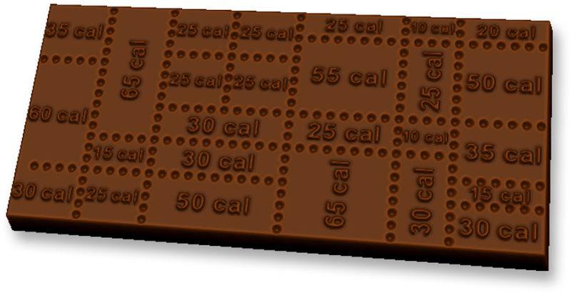 """Форма для мыла Выдумщики """"Шоколад Калории"""", пластиковая, цвет: прозрачный"""