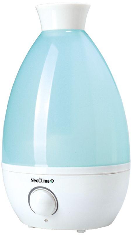 Neoclima NHL-150L, White Blue увлажнитель воздуха30758Ультразвуковой увлажнитель воздуха Neoclima NHL-150L. Антибактериальное покрытие бака. Режимы работы:Регулировка интенсивности увлажненияLED индикацияАроматизация