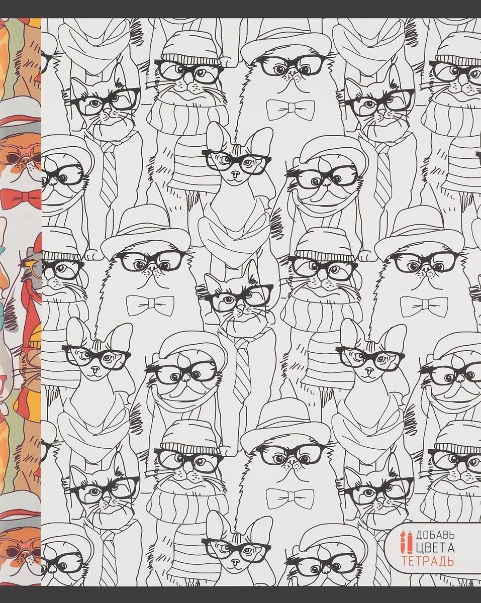 Канц-Эксмо Тетрадь Магия цвета 48 листов в клетку цвет зеленый оранжевый книги эксмо сыны анархии братва