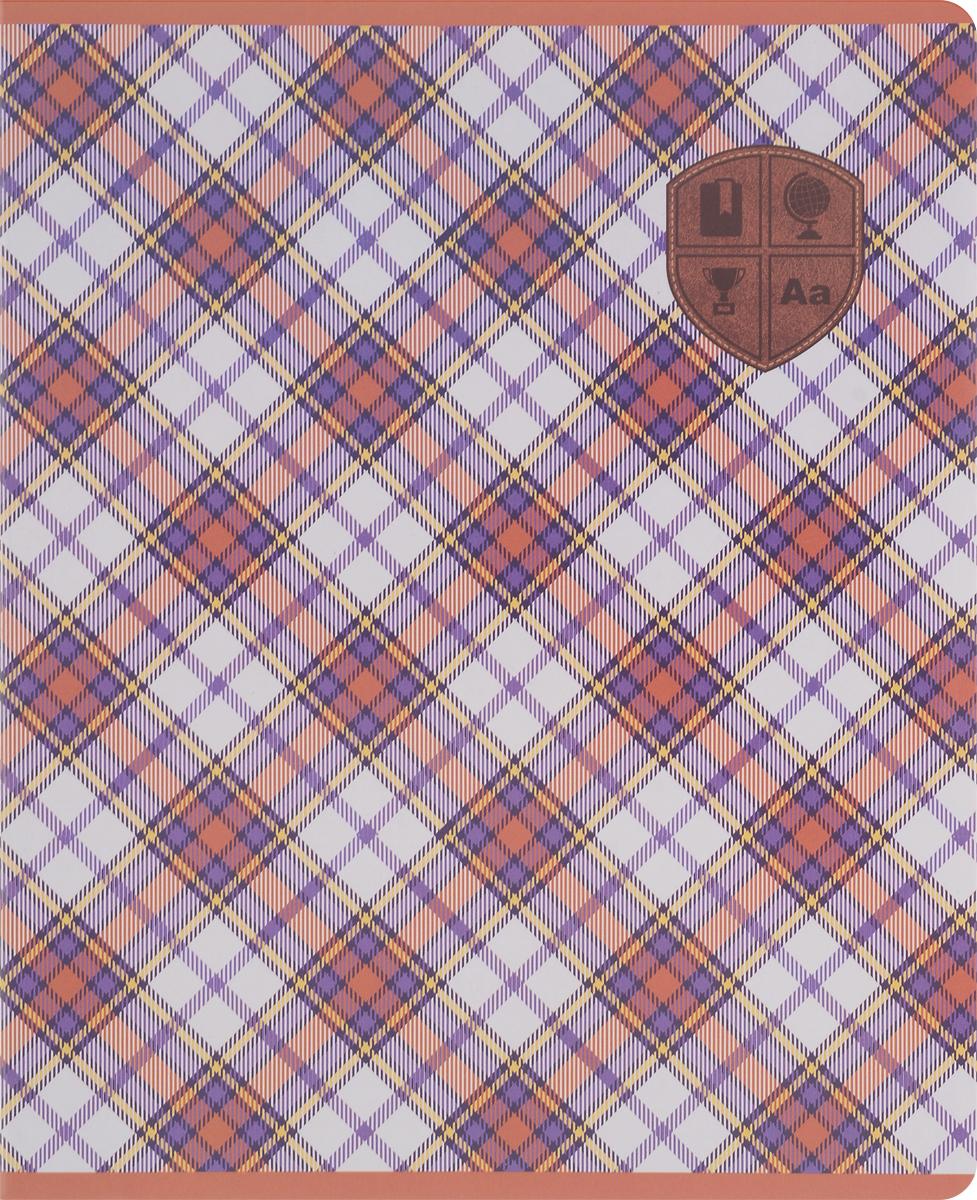 Феникс+ Тетрадь Шотландка 48 листов в клетку цвет коричневый44531_коричневыйТетрадь Феникс+ Шотландка формата А5 отлично подойдет как школьнику, так и студенту. Обложка тетради выполнена из мелованного картона и дополнена стильным изображением, оформленным сплошным УФ-лаком.Внутренний блок тетради состоит из 48 листов офсетной бумаги в клетку.